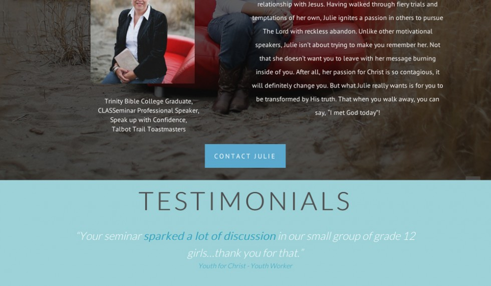 Julie Hayes website/blog