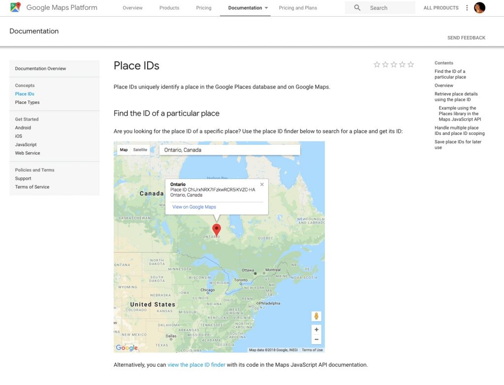 Google Place ID for creating a link to your business Review